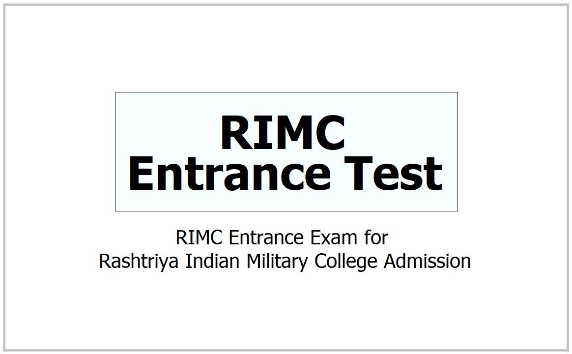 RIMC Entrance Test 2021