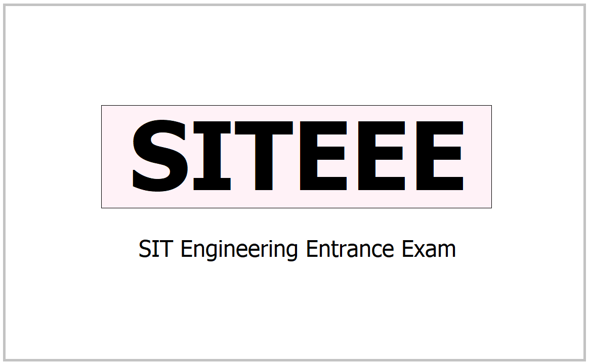 SITEEE 2021, Apply for SIT Engineering Entrance Exam