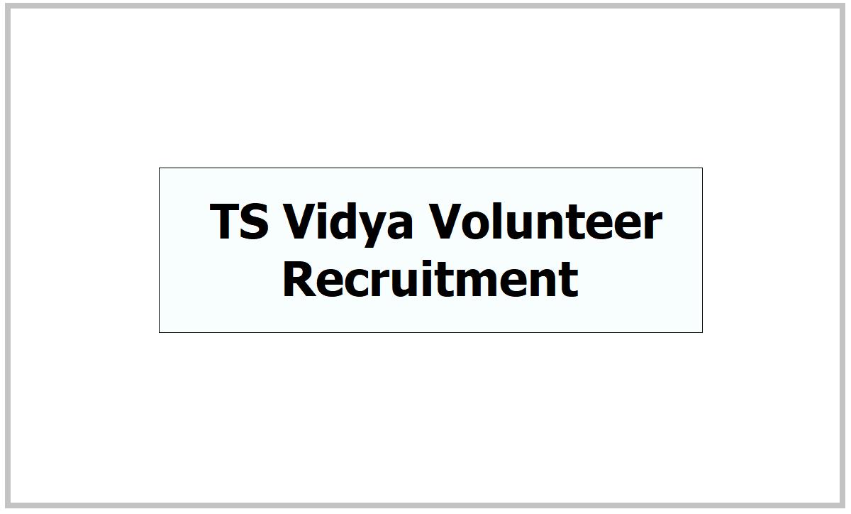 TS Vidya Volunteer Recruitment 2021 in Telangana Schools
