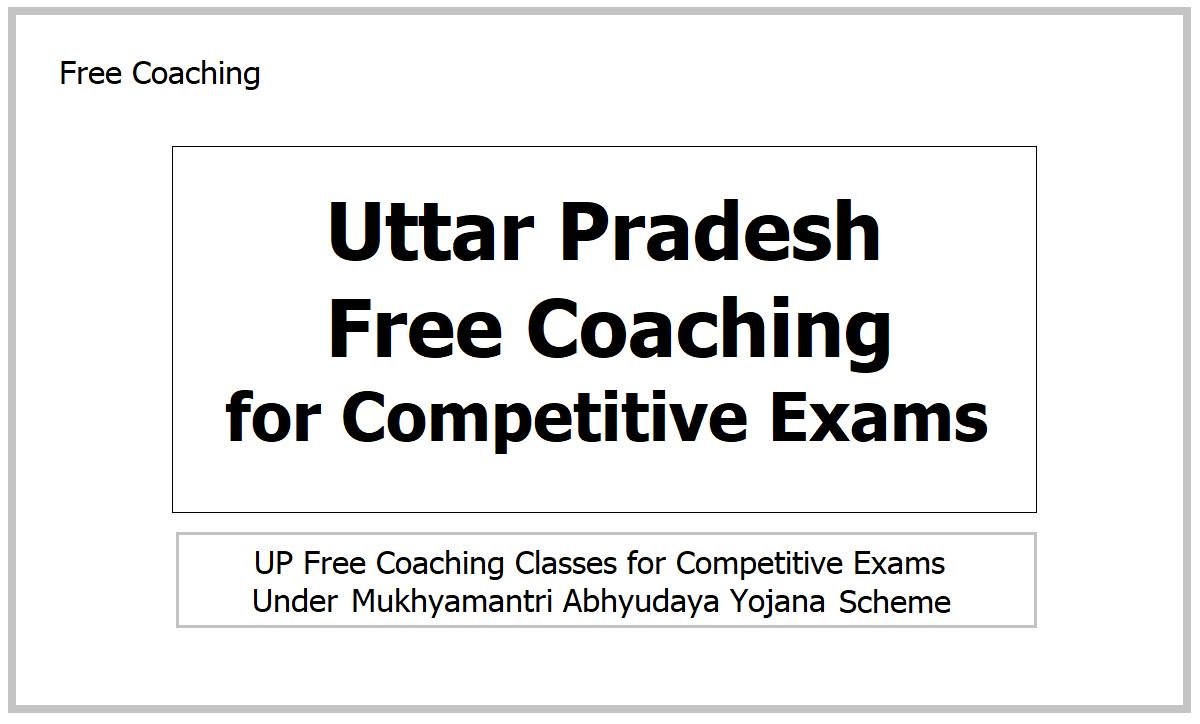 Uttar Pradesh Free Coaching 2021