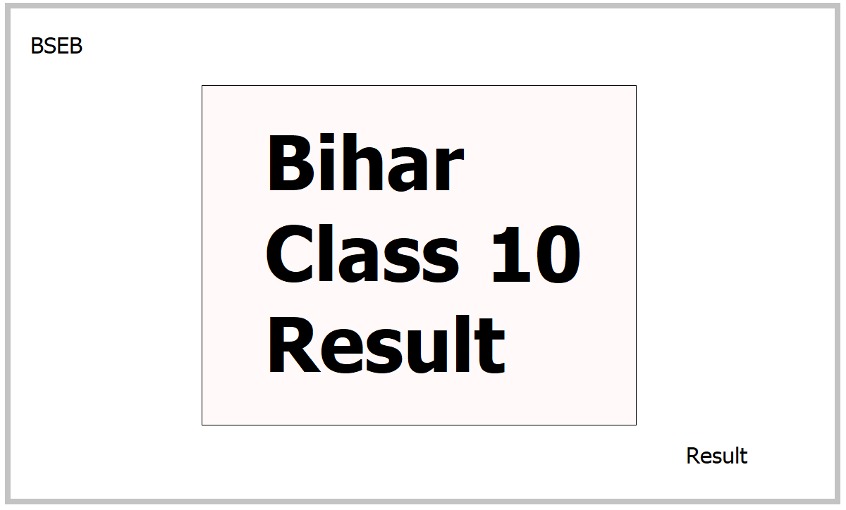 Bihar 10th Class Result 2021
