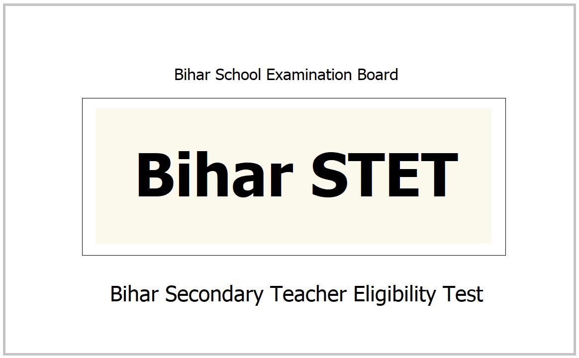 Bihar STET 2021