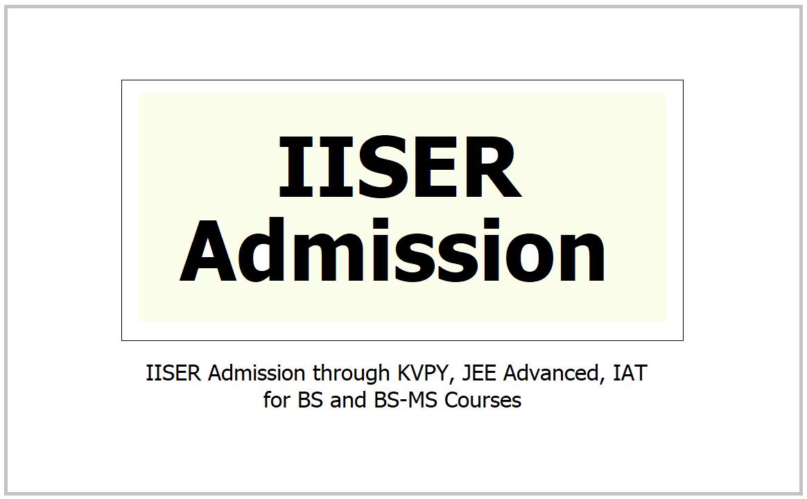 IISER Admission 2021