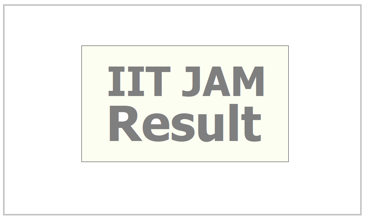 IIT JAM Result 2021, How to check at  jam.iisc.ac.in