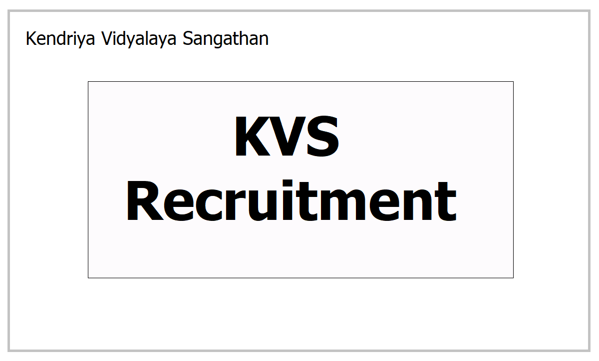 KVS Recruitment 2021, Apply for Principal, TGT, PGT, PRT, Librarian and other posts