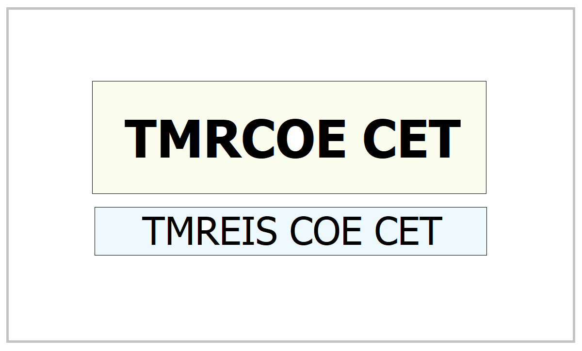 TMRCOE CET 2021