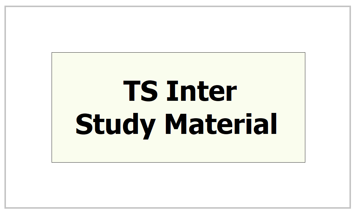 TS Inter Study Material 2021 download from TS BIE Website