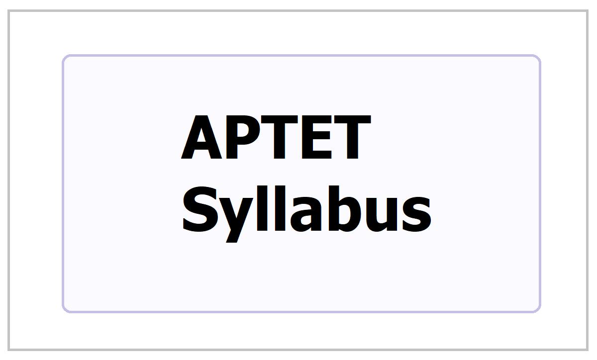 APTET Syllabus 2021