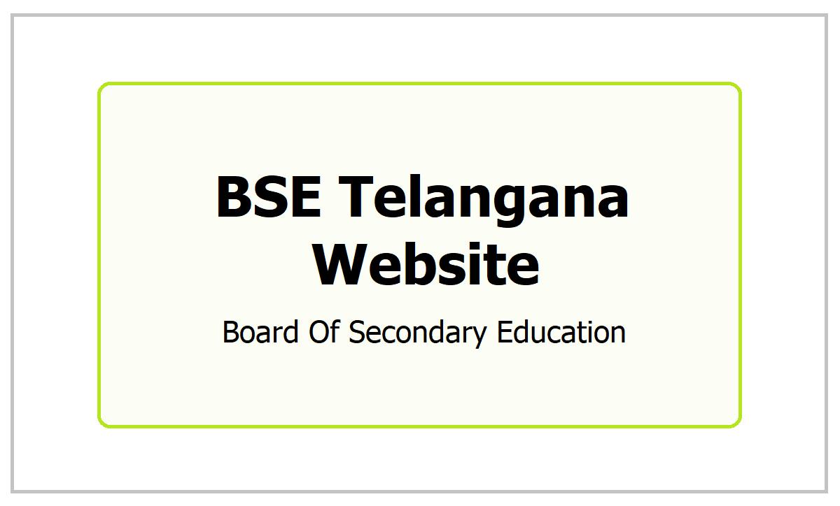 BSE Telangana Website