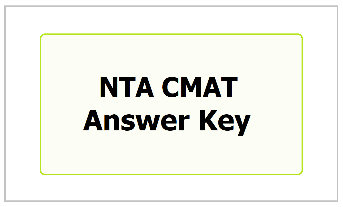 NTA CMAT Answer Key