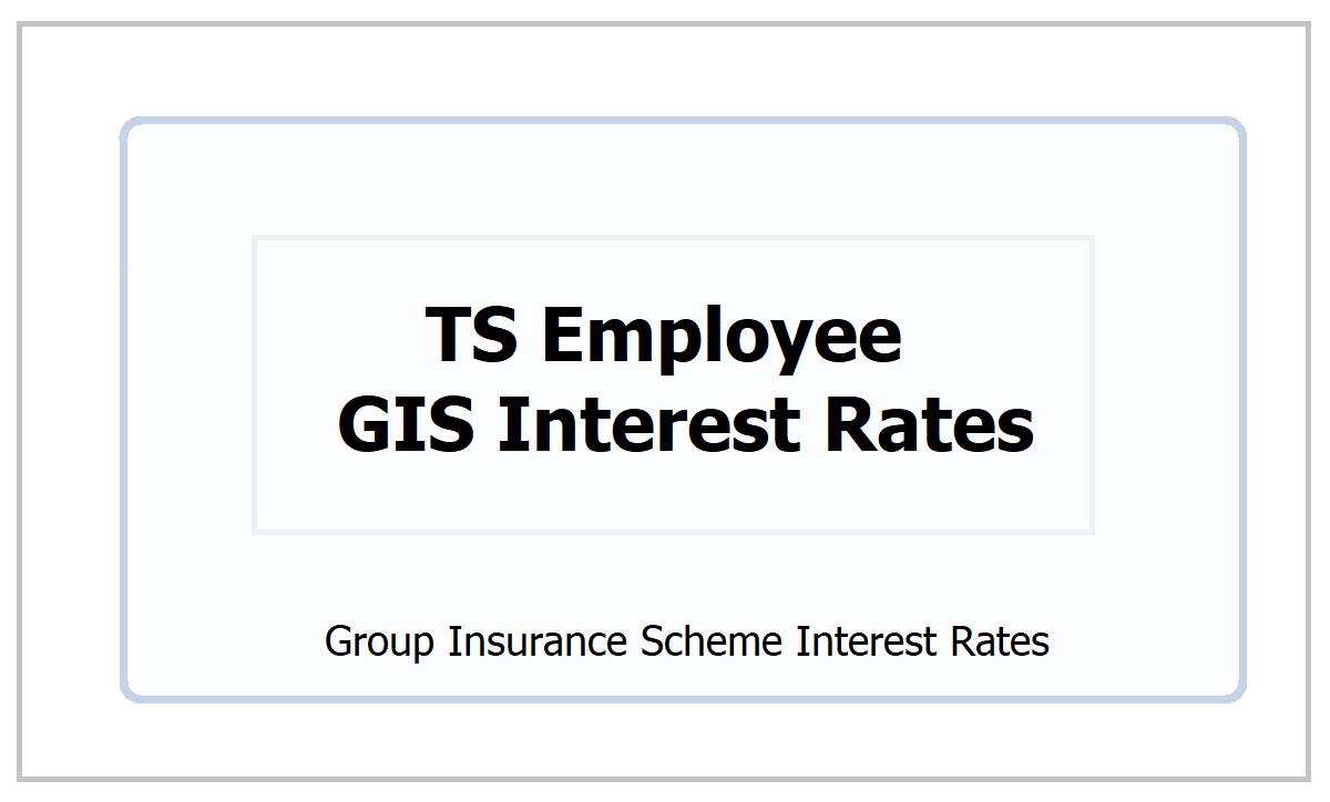 TS Employee GIS Interest Rates 2021