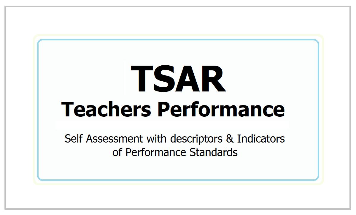 TSAR Teachers Performance Calculator 2021: Self Assessment with descriptors & Indicators of Standards