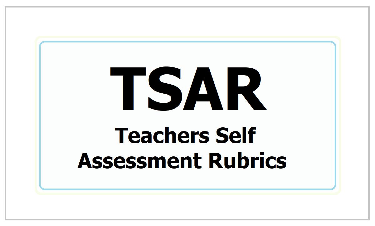 Teachers Self Assessment Rubrics 2021