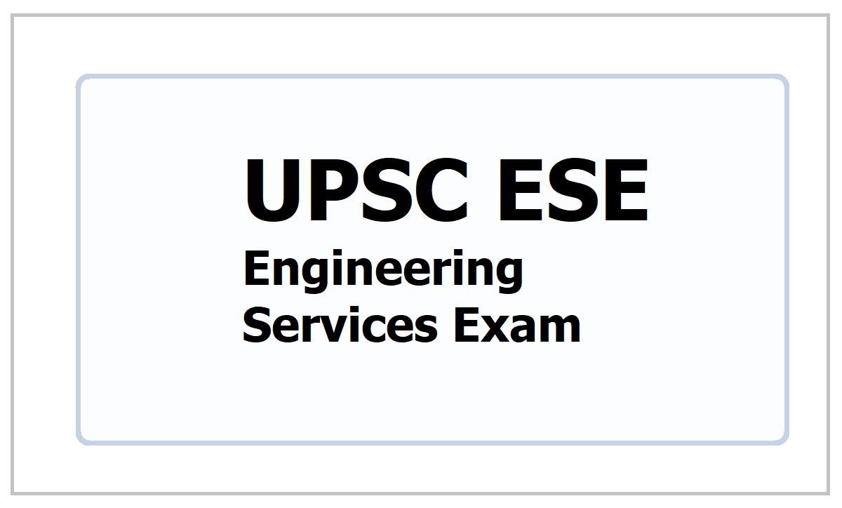 UPSC ESE 2021