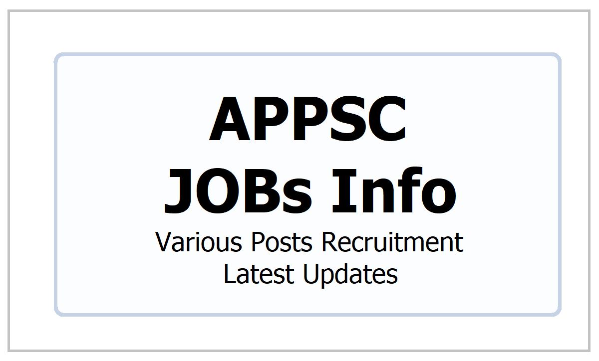 APPSC JOBs 2021