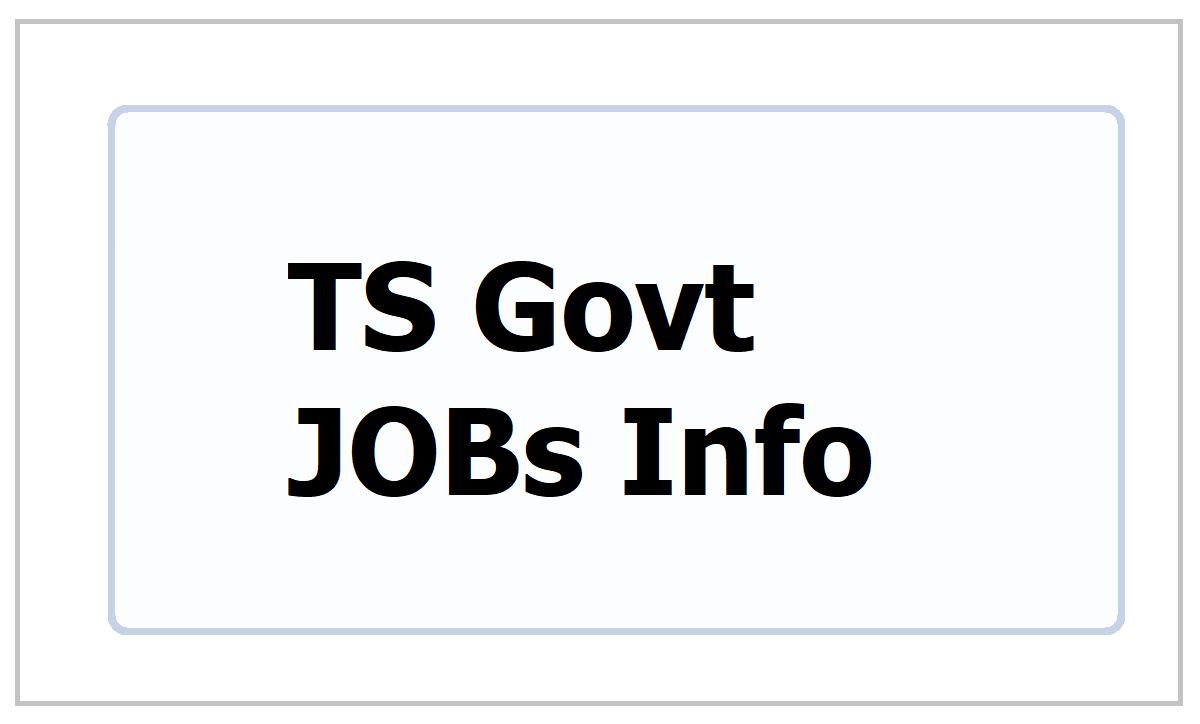 TS Govt JOBs 2021 Information