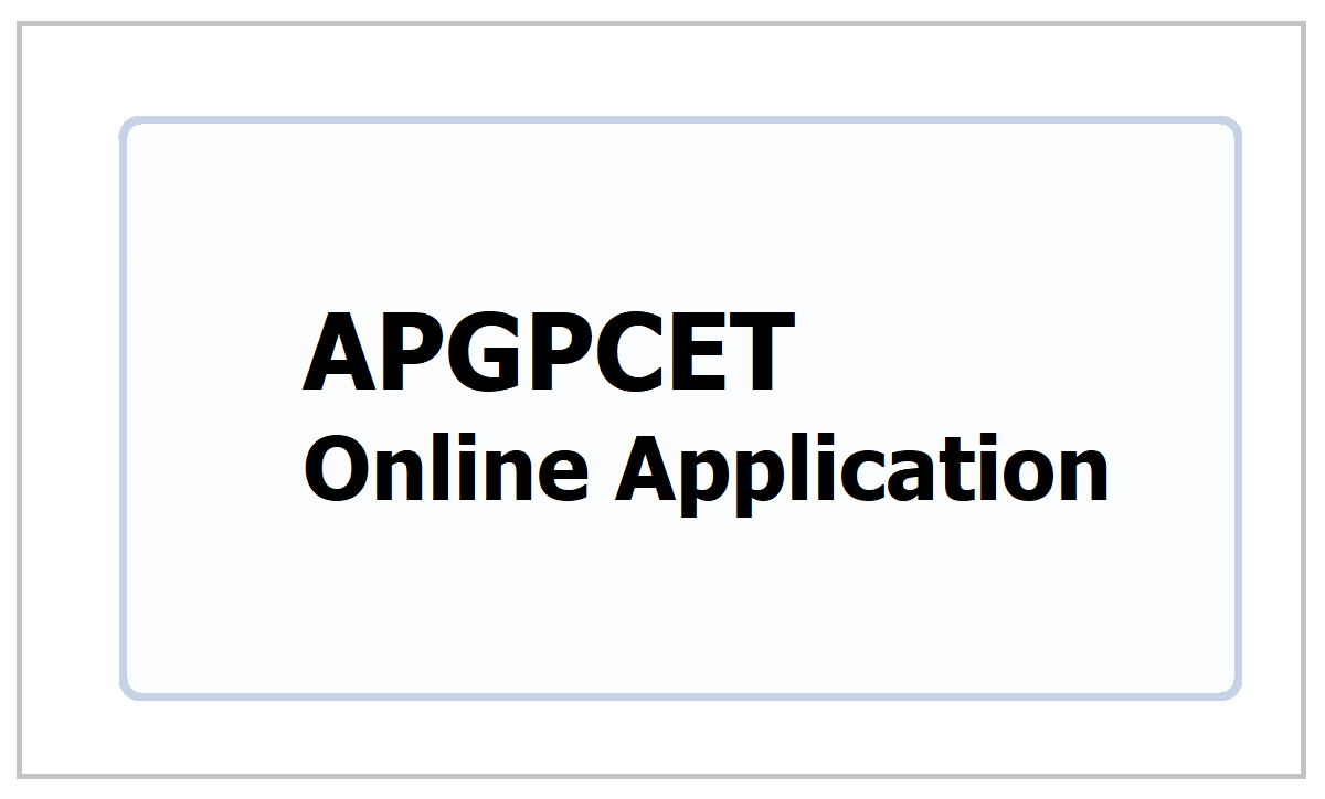 APGPCET 5th Class Entrance Test Online Application form 2021
