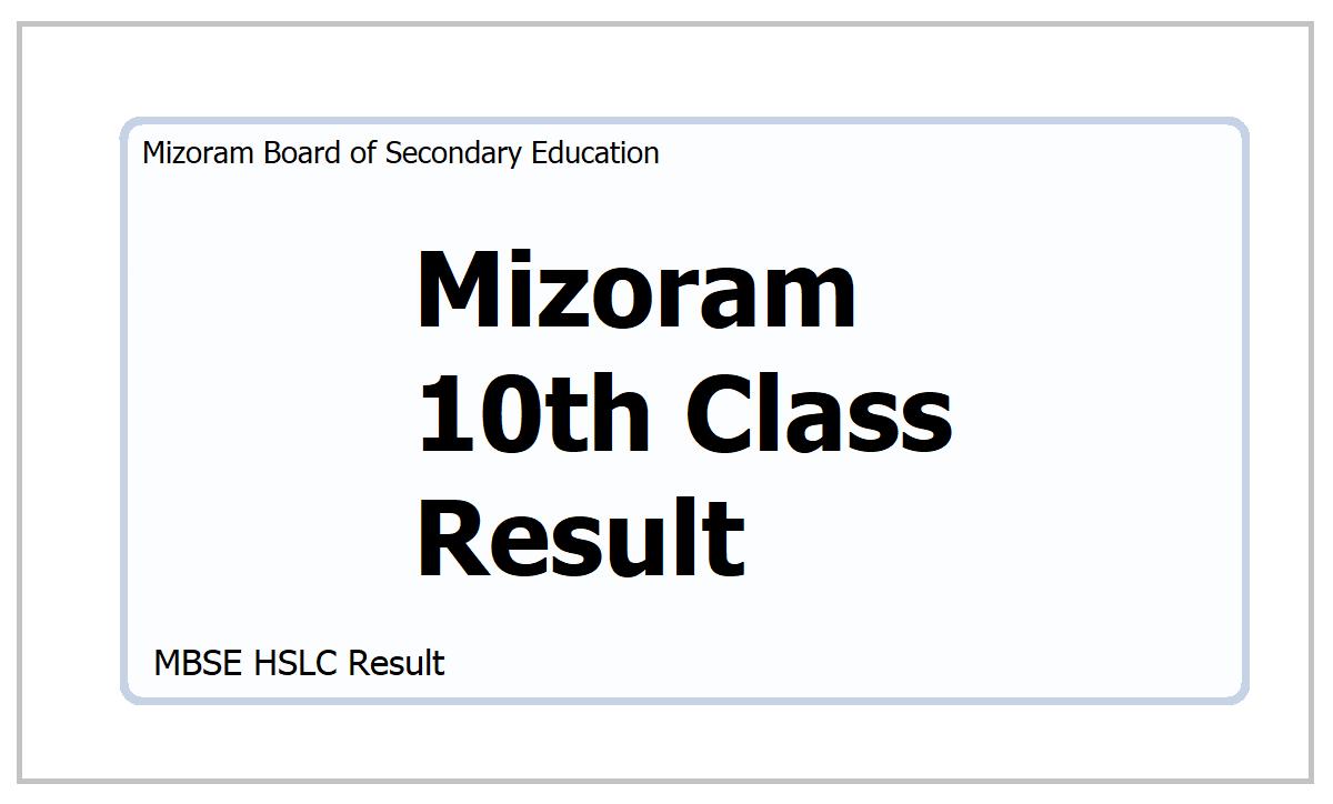 Mizoram 10th Class Result 2021