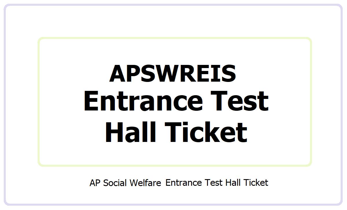 BLV APSWRS CET Hall Ticket 2021