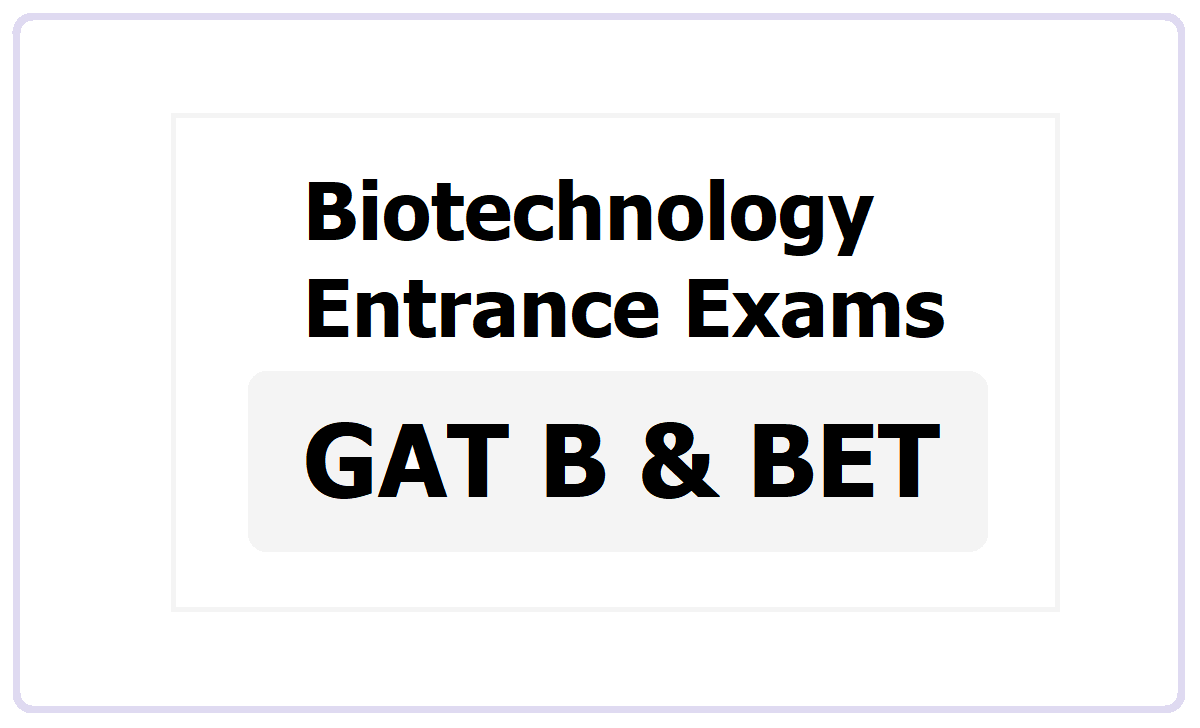 GAT B 2021 & BET 2021, Apply for  Biotechnology Entrance Exams at dbt.nta.ac.in