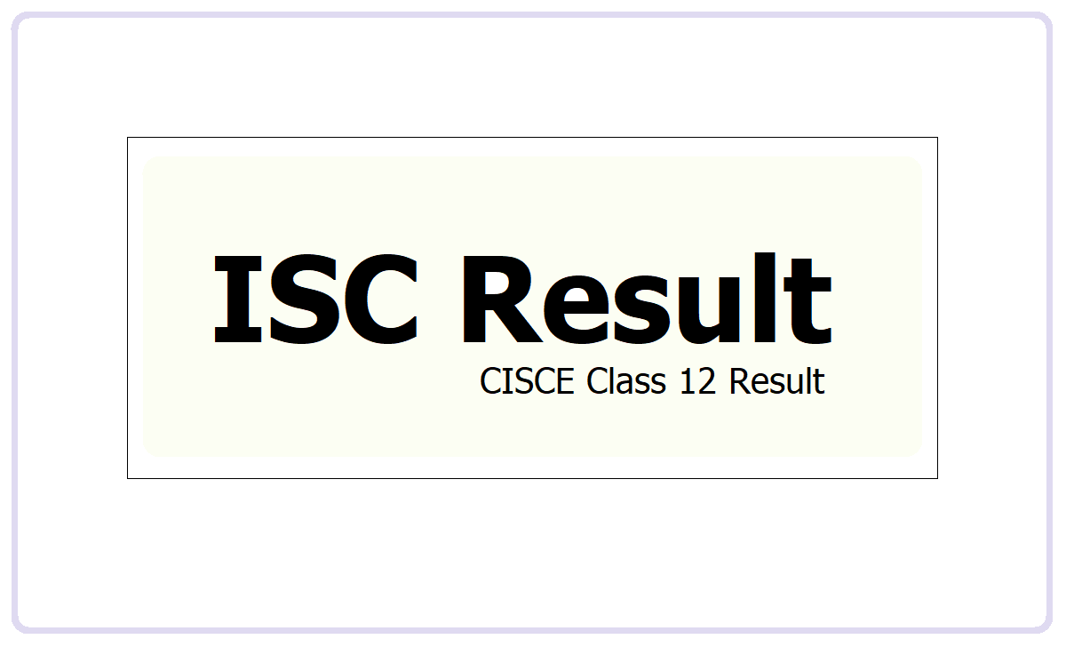 ISC Result 2021
