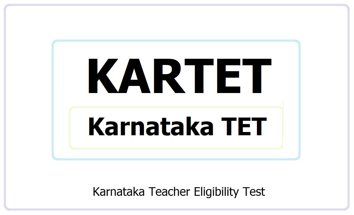KARTET 2021, Apply for Karnataka TET