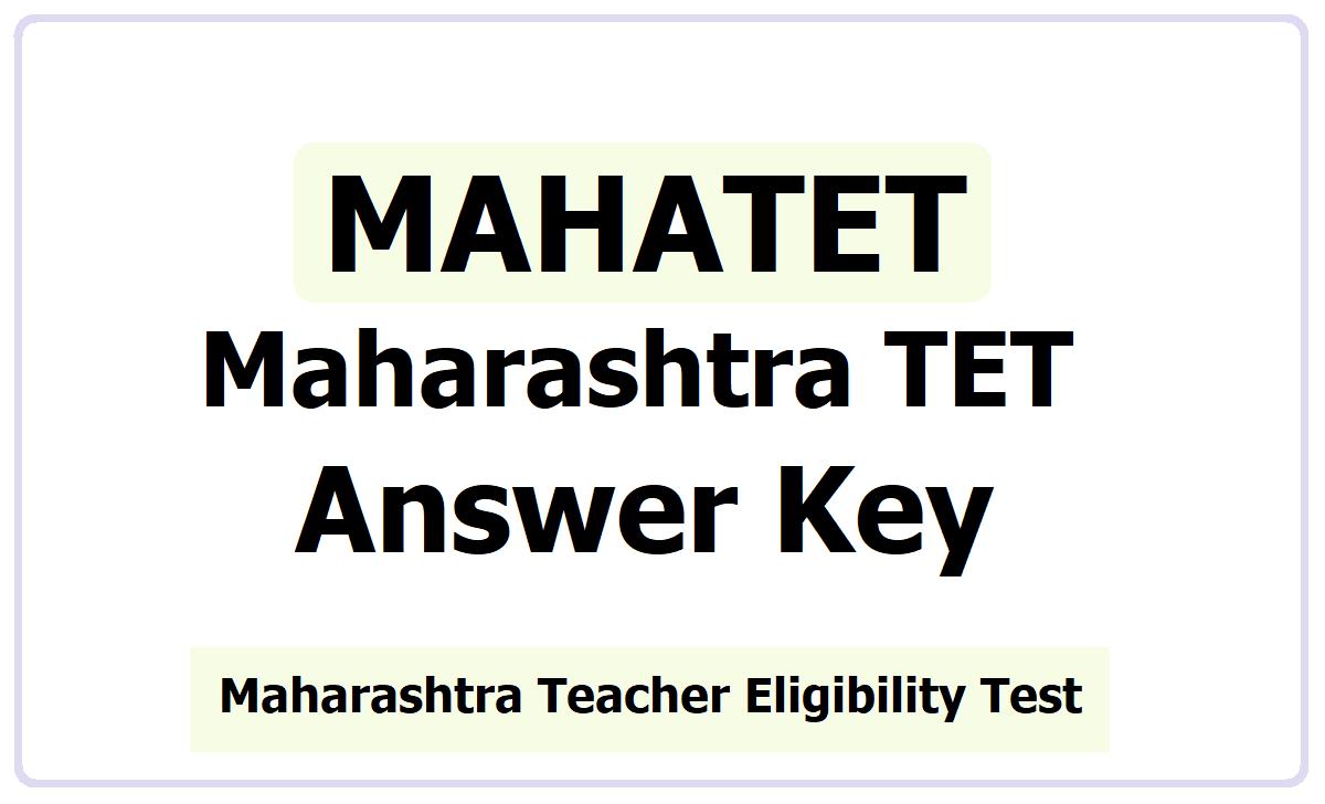 Maharashtra TET Answer Key 2021
