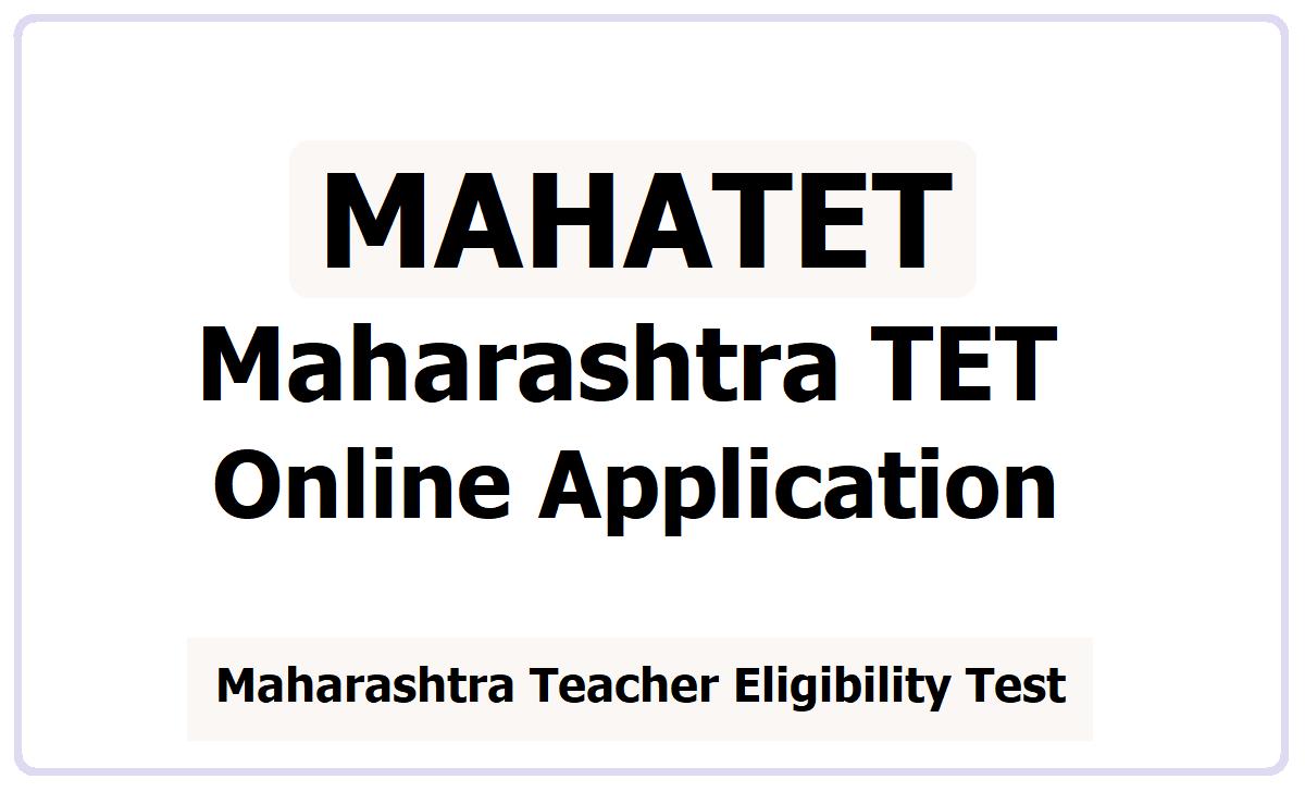Maharashtra TET Online Application 2021