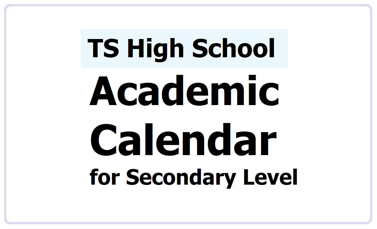 TS High School Alternative Academic Calendar 2021-2021