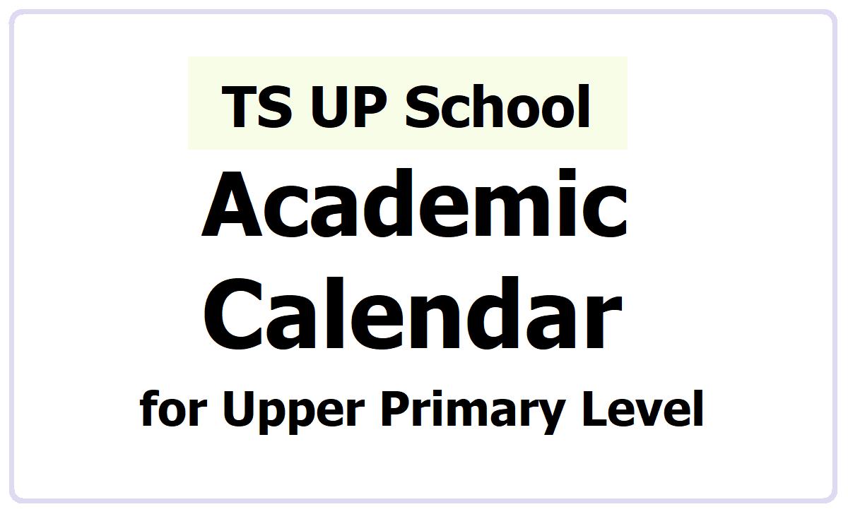 TS UP School Alternative Academic Calendar 2021-2021