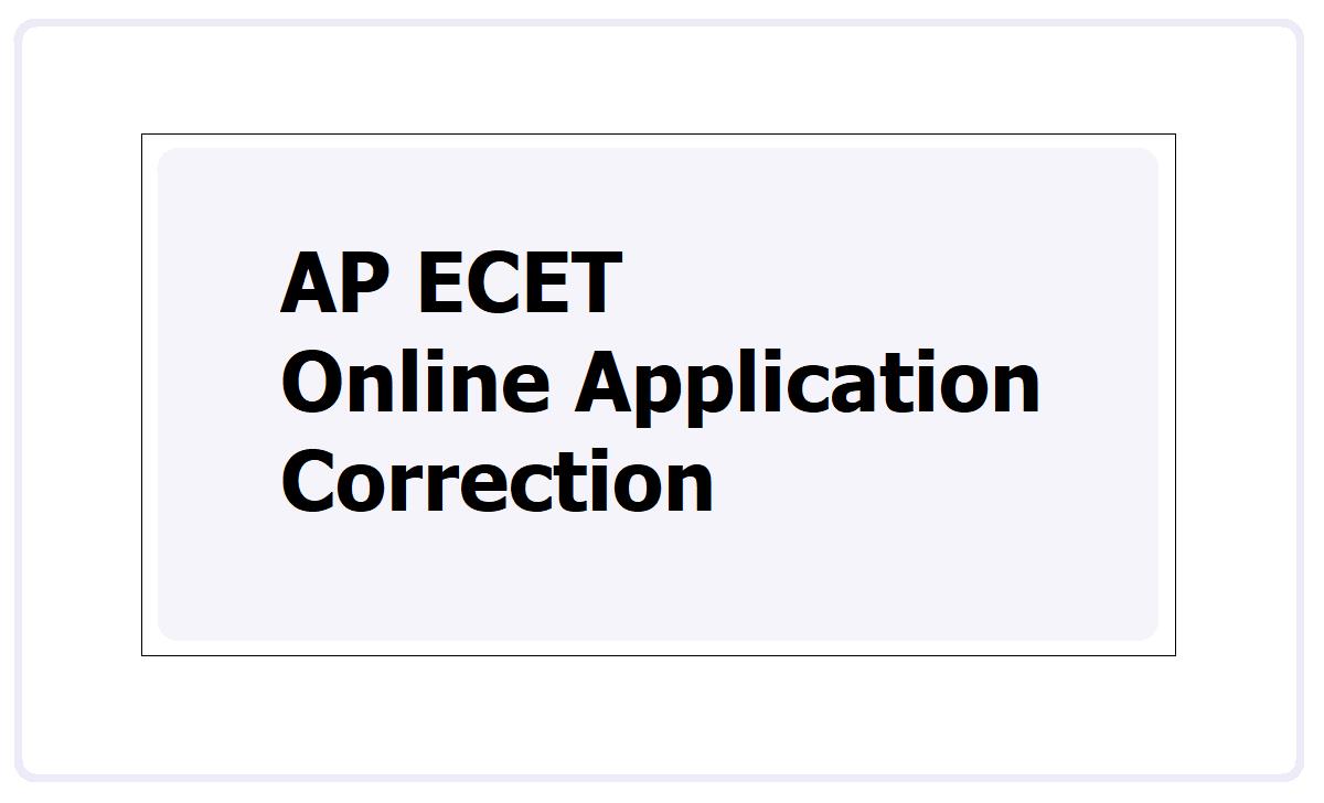 AP ECET Online Application Correction 2021