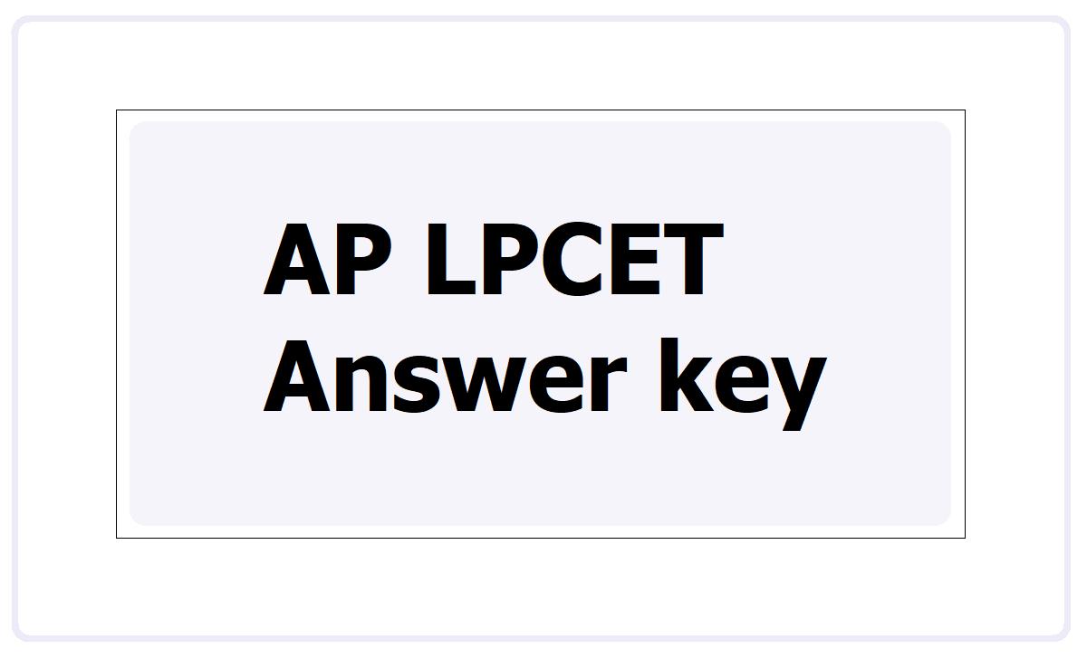 AP LPCET Answer key 2021