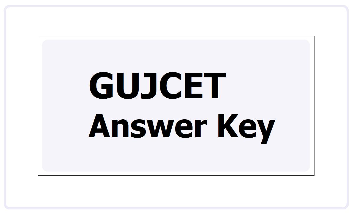 GUJCET Answer Key 2021