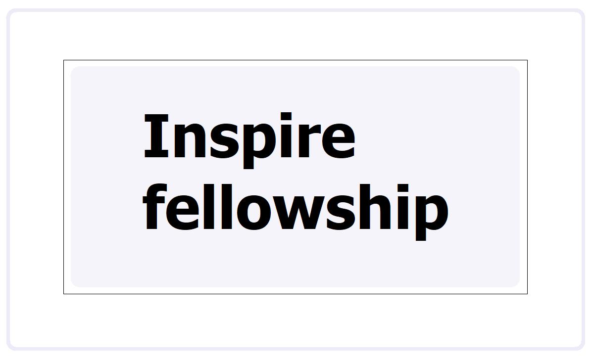 Inspire fellowship 2021