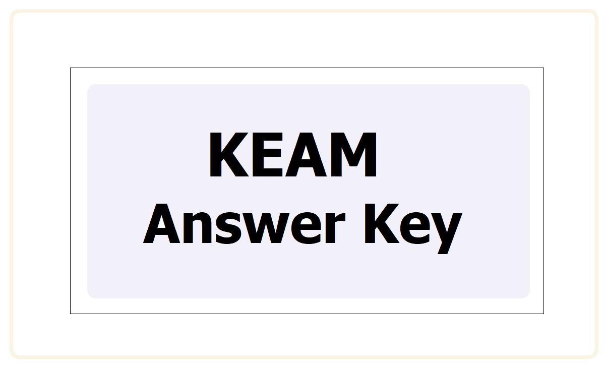 KEAM Answer Key 2021