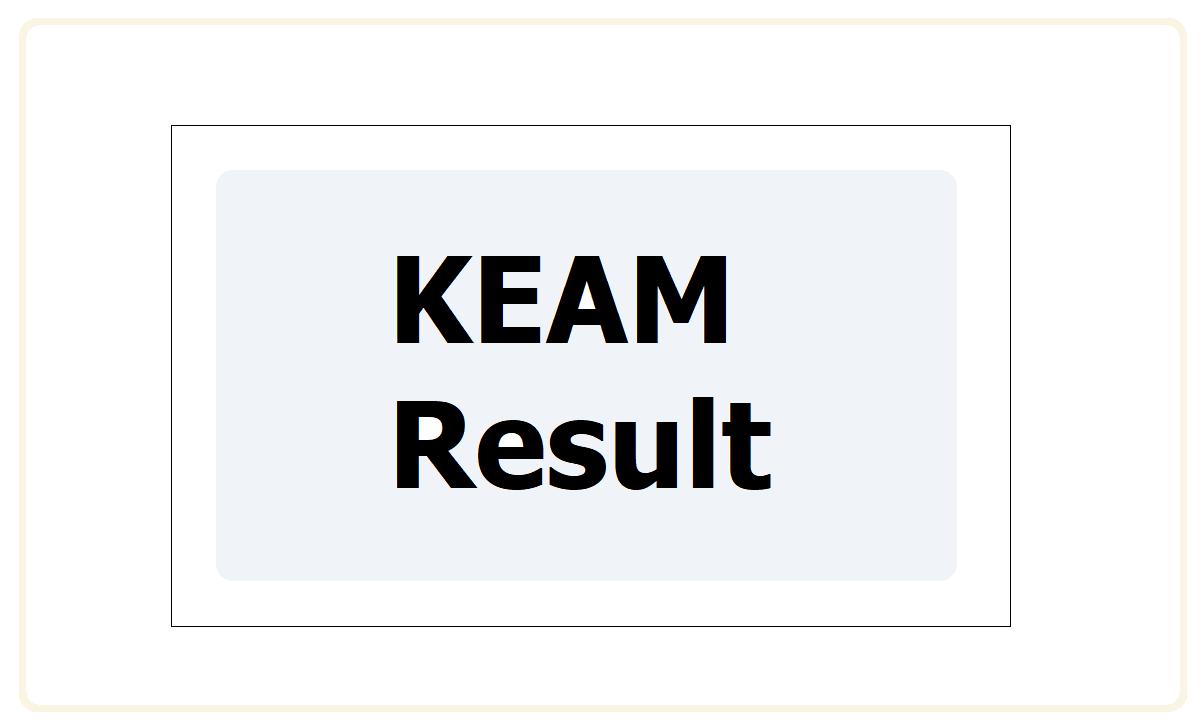 KEAM Result 2021