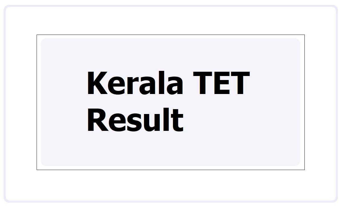 Kerala TET Result 2021