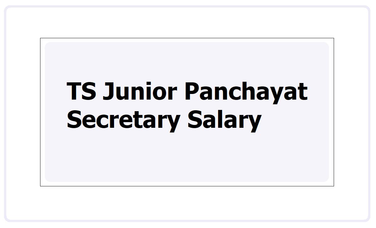 TS Junior Panchayat Secretary Salary 2021