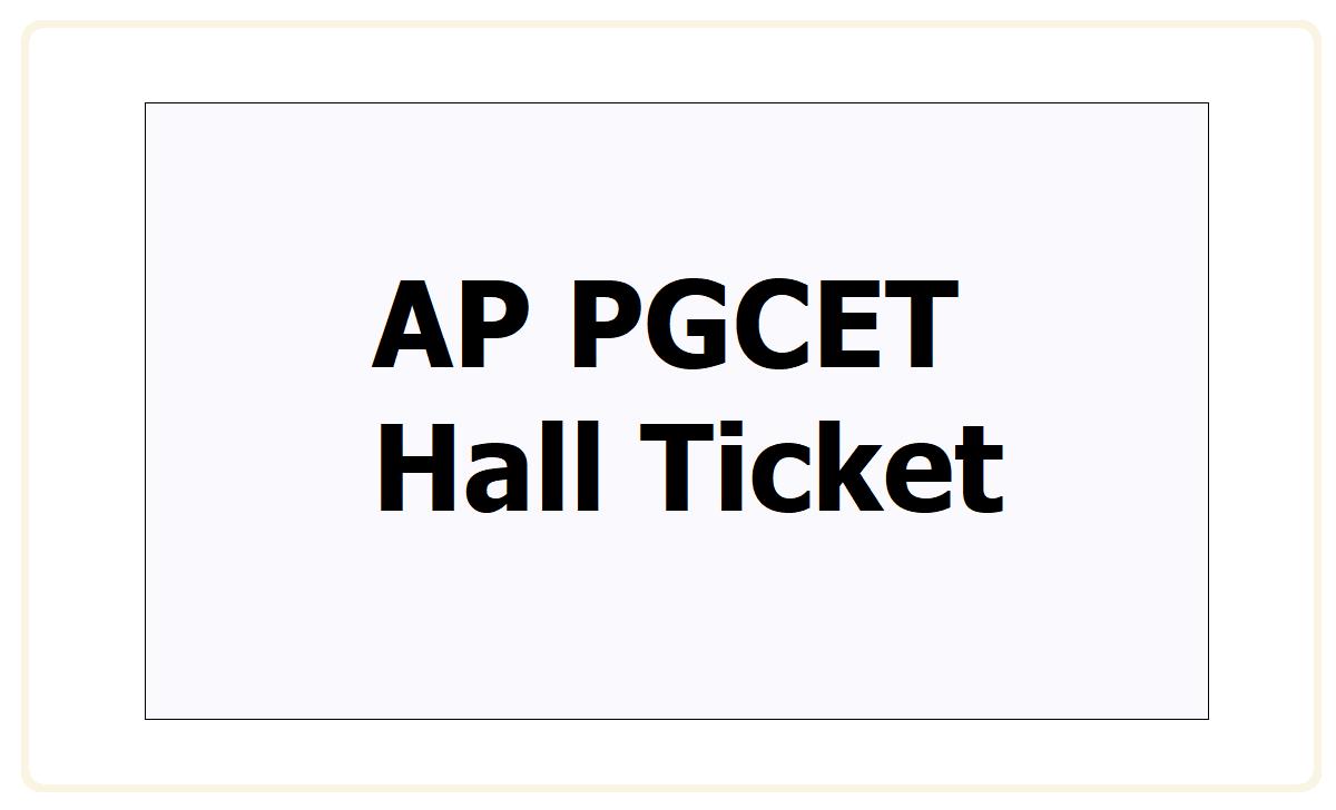 AP PGCET Hall Ticket 2021
