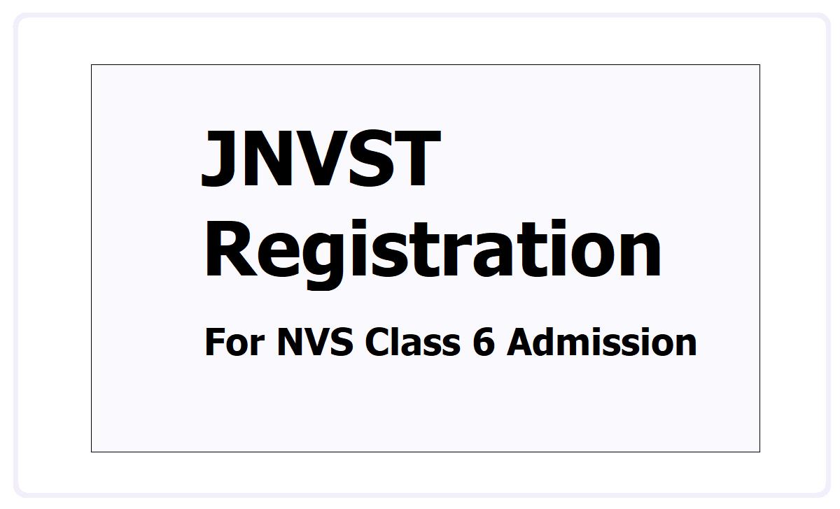 JNVST Registration 2022