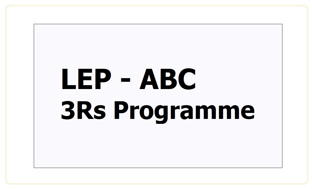 LEP 3Rs Programme 2021