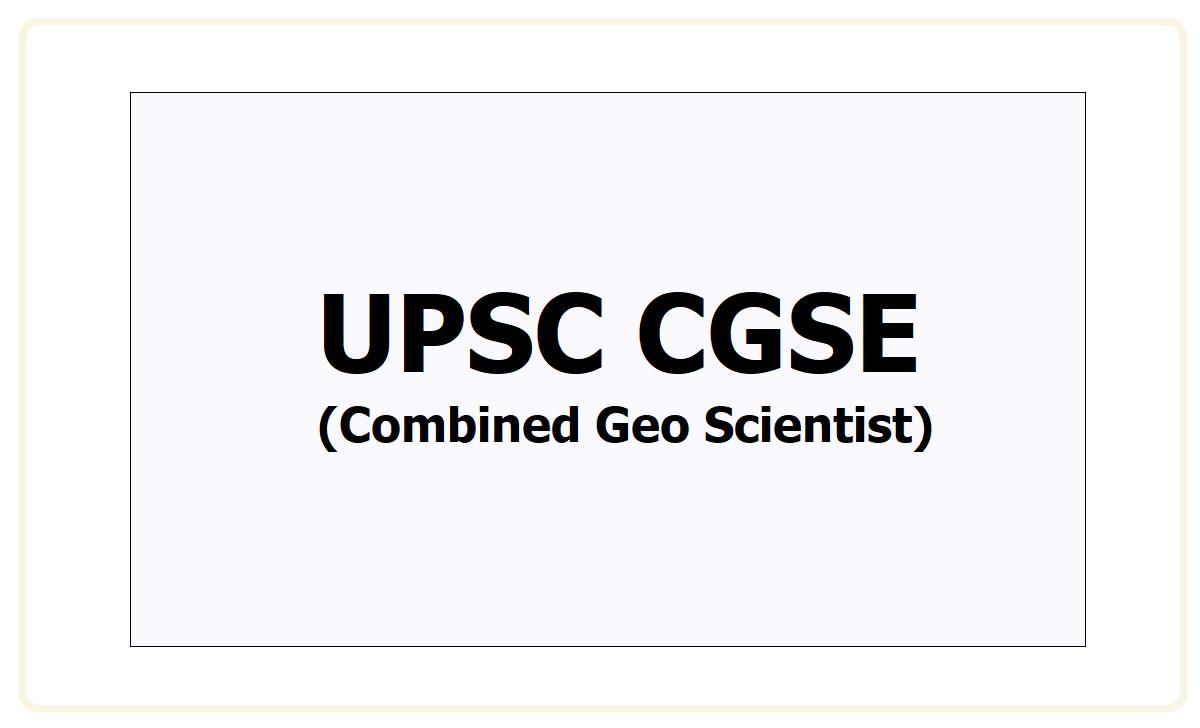 UPSC CGSE 2021