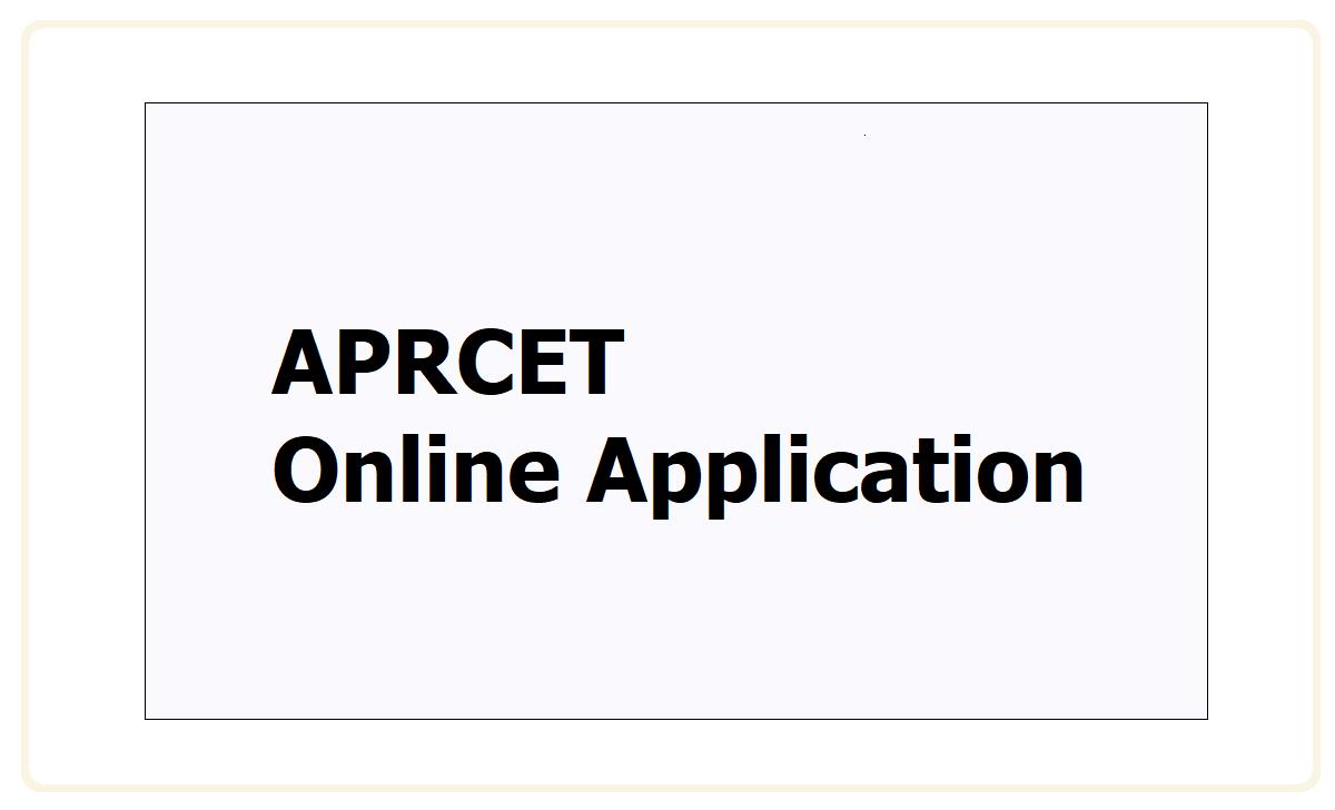 APRCET Online Application